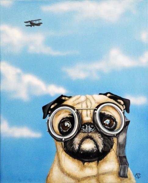 Pilot Pug, by Victoria Coleman