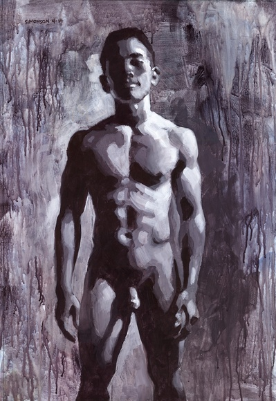Humanities, Arts & Music Asian Male Nude in Greyscale by Douglas Simonson